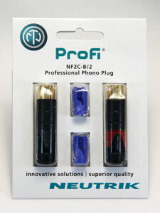 Neutrik ProFi NF2C-B/2 RCA Plug Pair