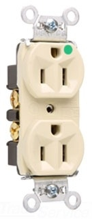 Pass Seymour 8200HI Hospital Grade Duplex Receptacle