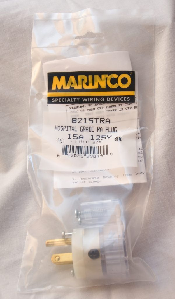 Marinco 8215TRA Hospital Grade Right Angle Power Plug