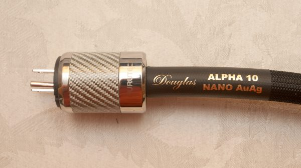 Alpha 10 Nano AuAg Custom Power Cable by Douglas Connection