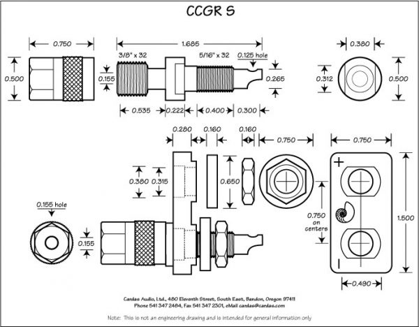 Cardas Audio CCGR S Binding Posts