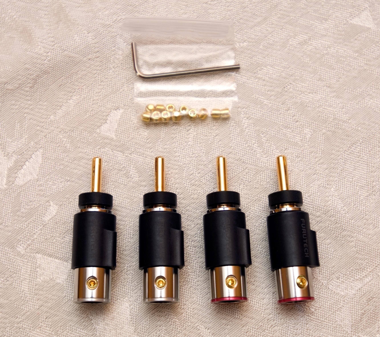 hi-performance Rhodium-Plated Spade Terminals-set of 4 FURUTECH FT-211 R