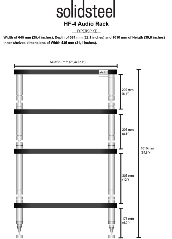 SolidSteel HF Series High End Audio Rack