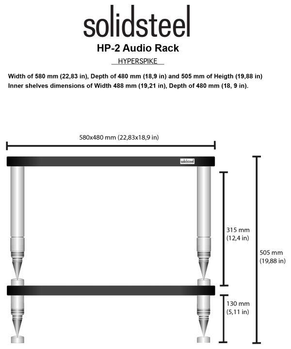 SolidSteel HP Series High End Audio Rack