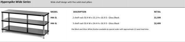 SolidSteel HW Series Wide High End Audio Rack
