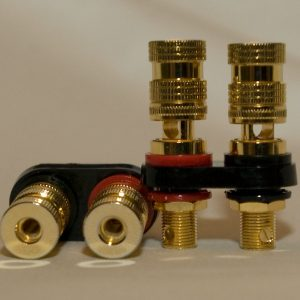 5 way Gold Plated Binding Posts 2 Pair set