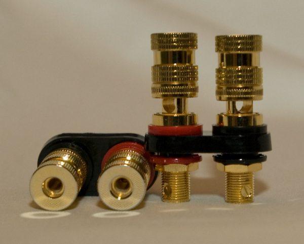 5 way Gold Plated Binding Posts 2 Pair set