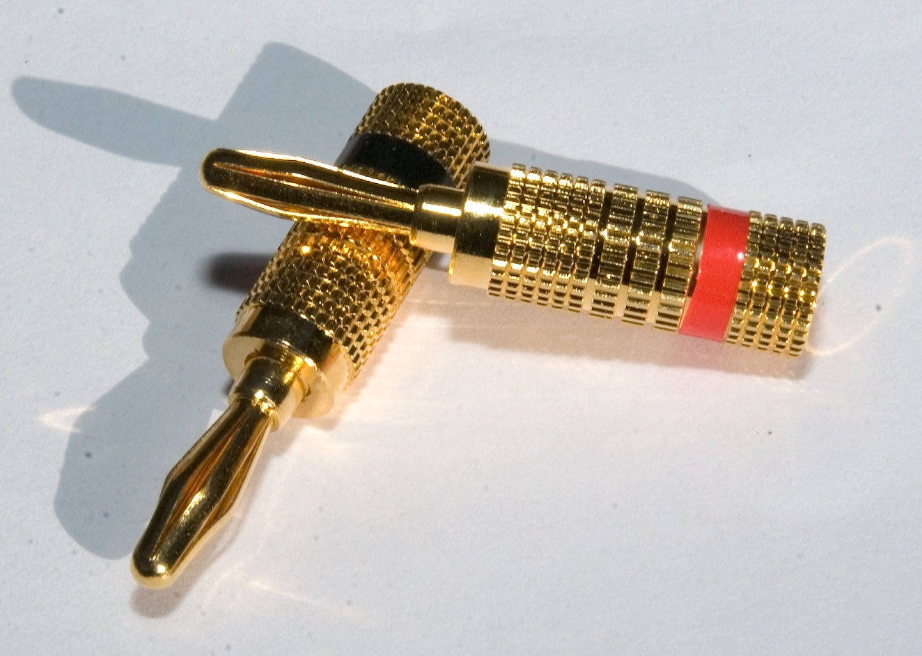Gold Plated Spring Type Banana Plug 4mm Pair