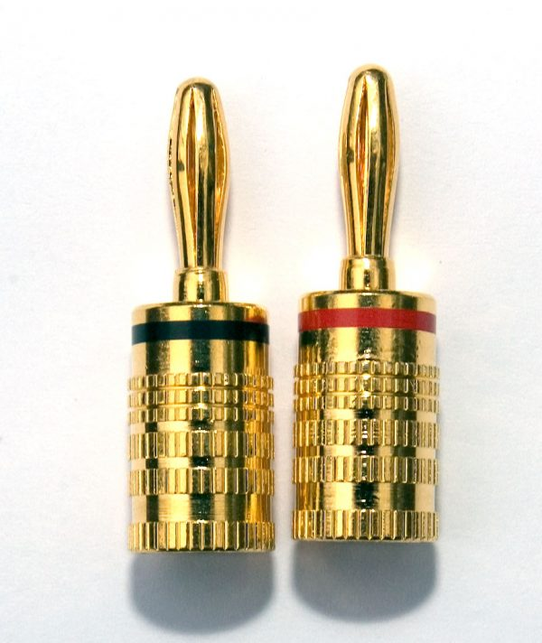 Gold Plated Spring Type Banana Plug 6mm Pair