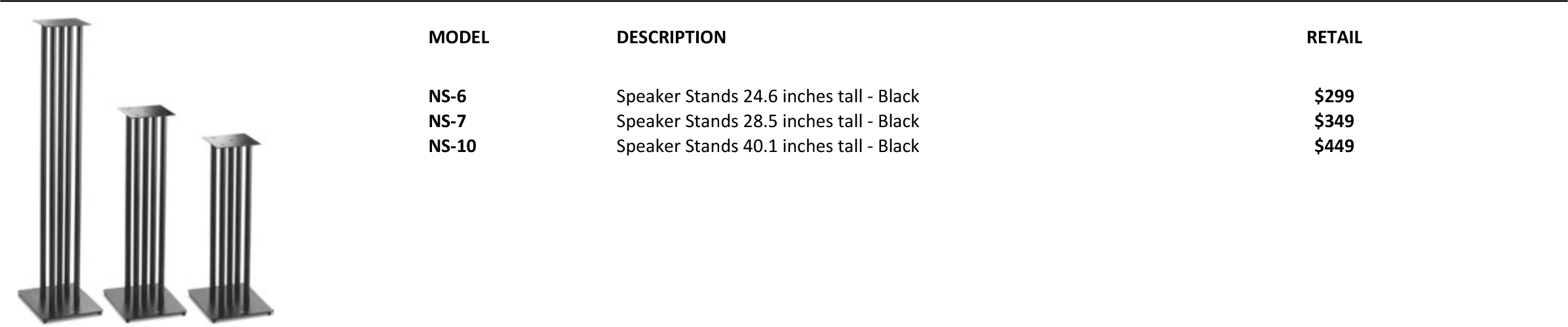 SolidSteel NS Series HiFi Speaker Stands