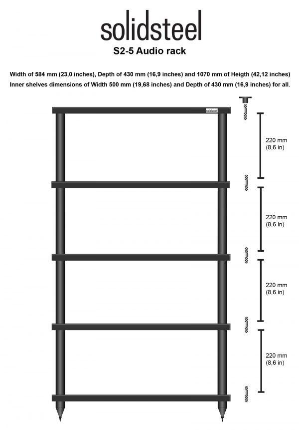 SolidSteel S2 Series HiFi Audio Rack