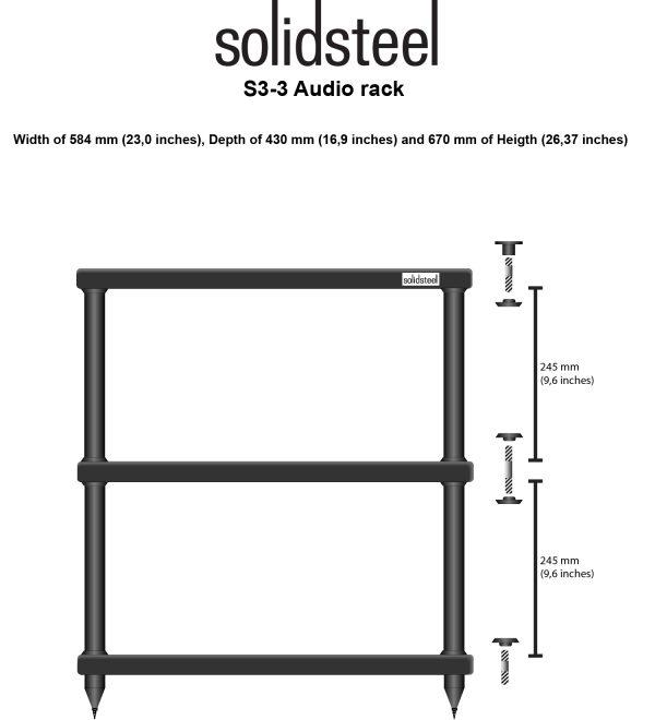 SolidSteel S3 Series HiFi Audio Rack