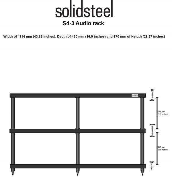 SolidSteel S4 Series Wide HiFi Audio Rack