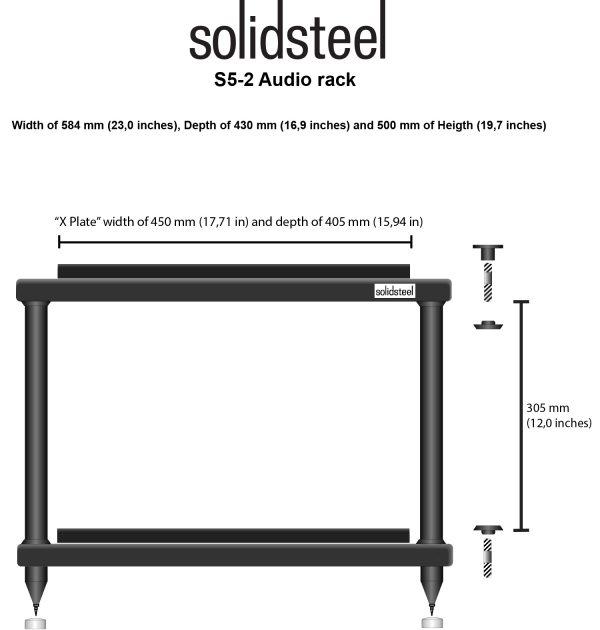 SolidSteel S5 Series HiFi Audio Rack