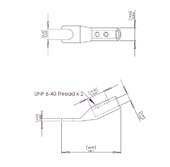 Furez SP8 SB60NP Bare Copper Spade Speaker Connectors Pair
