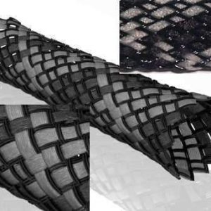 Furez FZ100BS Braided Sleeve Black and Gray
