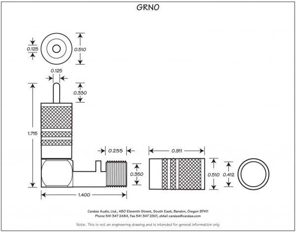 Cardas Audio GRNO 90 RCA male