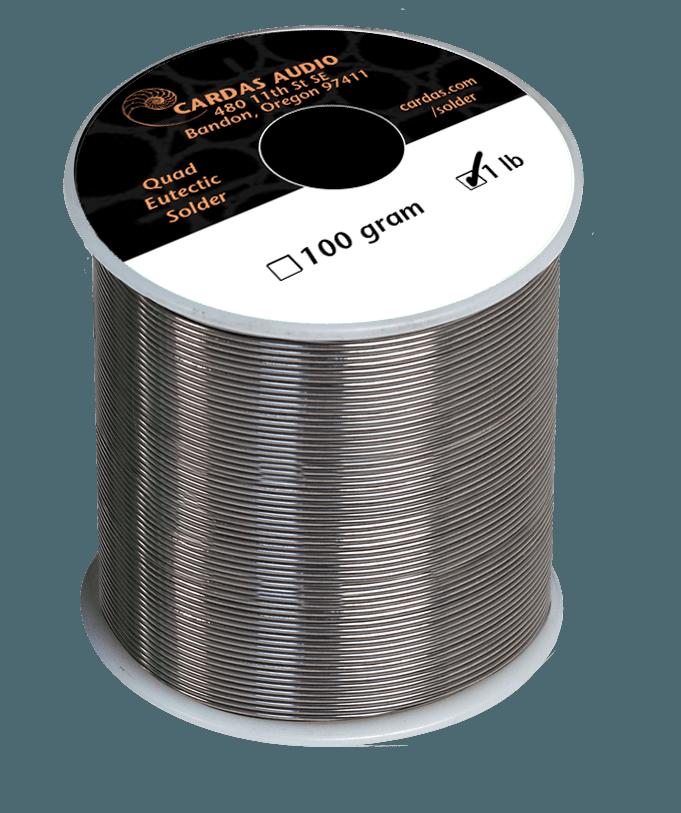 Cardas Quad Eutectic Solder 1 lb Roll