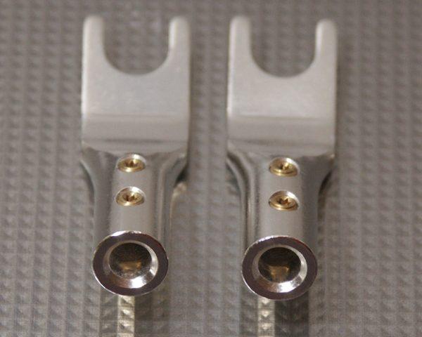 Furez SP8 SB50Ag Silver Plated Spade Speaker Connectors Pair