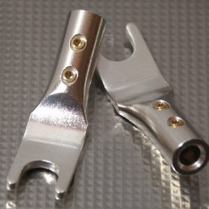 Furez SP8 SB50Ag Silver Plated Spade Speaker Connectors Pair