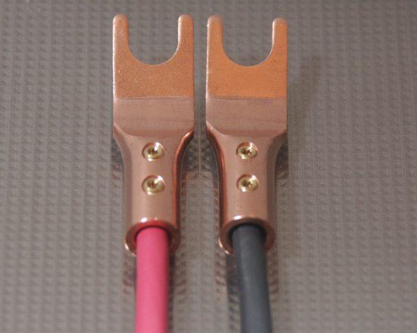Furez SP8 SB50NP Bare Copper Spade Speaker Connectors Pair