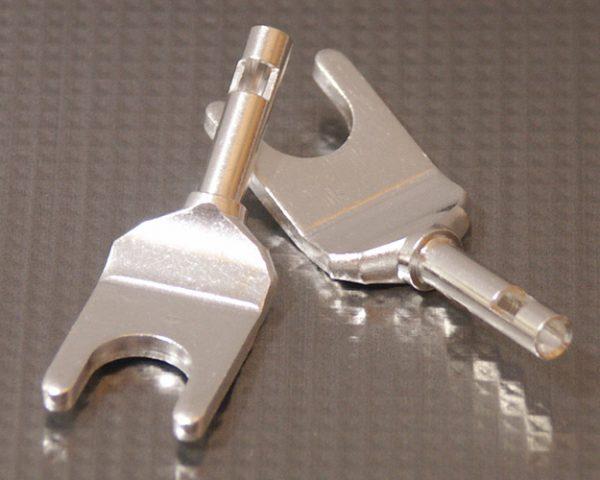 Furez SP8 W25Ag Silver Plated Copper Spade Connectors Pair