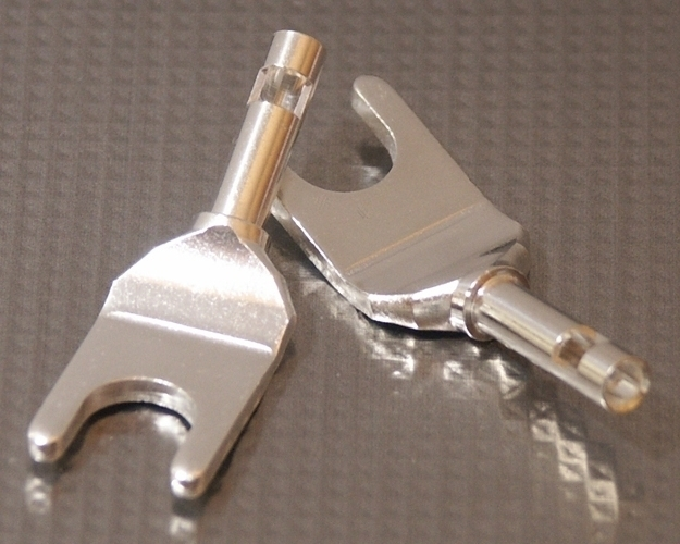 Furez SP8 W30Ag Silver Plated Copper Spade Connectors Pair