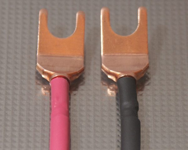 Furez SP8 W30NP Bare Copper Spade Speaker Connectors Pair