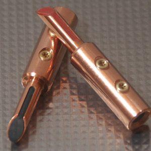 Furez TSTSB40NP Bare Copper Banana Plug Connectors Pair