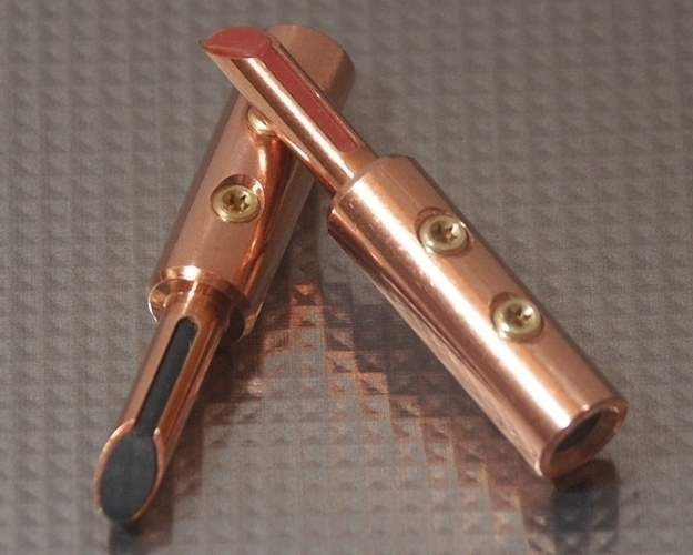 Furez TSTSB40NP Bare Copper Banana Plug Connectors Pair