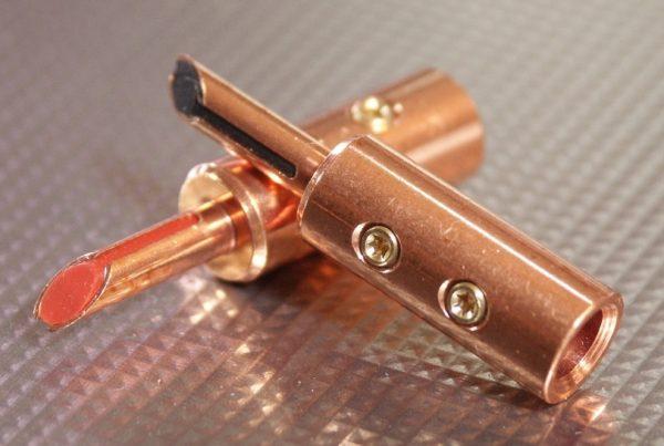Furez TSTSB60NP Bare Copper Banana Plug Connectors Pair