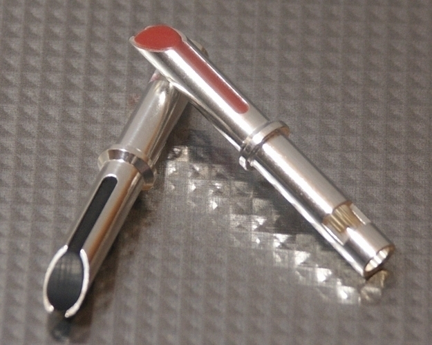 Furez TSTW30Ag Silver Plated Copper Banana Plug Connectors Pair