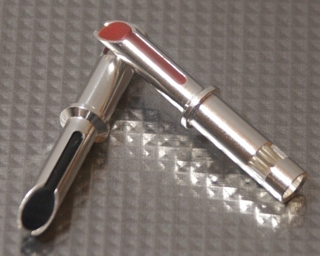 Furez TSTW38Ag Silver Plated Copper Banana Plug Connectors Pair