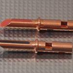 Furez TSTW38NP Bare Copper Banana Plug Connectors Pair
