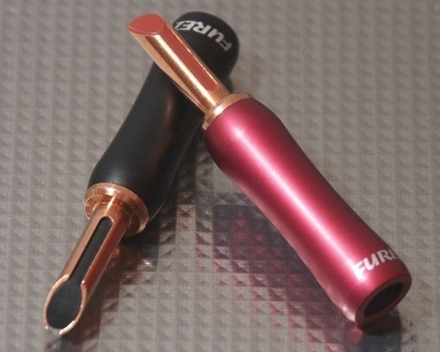 Furez TSTWP30NP Bare Copper Banana Plug Connectors Pair