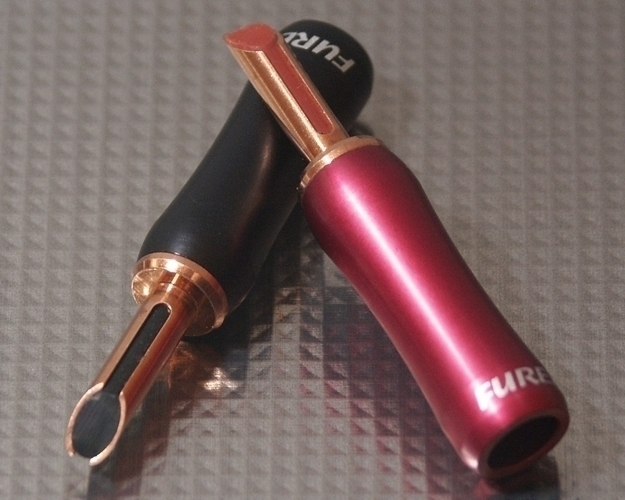 Furez TSTWP38NP Bare Copper Banana Plug Connectors Pair