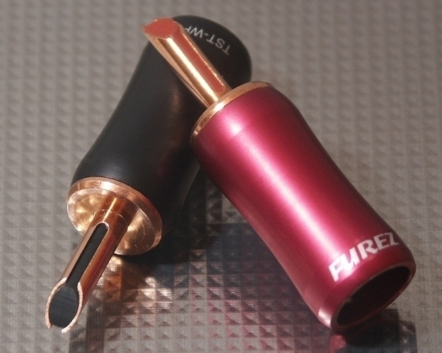 Furez TSTWP48XLNP Bare Copper Banana Plug Connectors Pair
